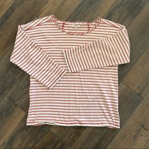 Madewell Small Red Striped Cute Top